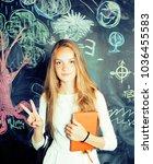 back to school after summer... | Shutterstock . vector #1036455583