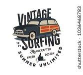 vintage hand drawn tee print...   Shutterstock .eps vector #1036468783