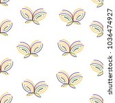 butterfly icon vector seamless... | Shutterstock .eps vector #1036474927