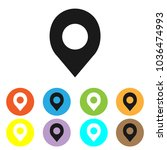 location icon vector  pin sign  ...