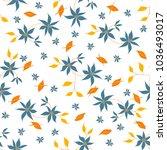 small flowers. seamless pattern ... | Shutterstock .eps vector #1036493017