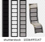 set of vector film strips ... | Shutterstock .eps vector #1036495147