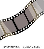 isolated film with white... | Shutterstock .eps vector #1036495183