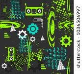 abstract seamless robot pattern ... | Shutterstock .eps vector #1036506997