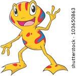 Happy Dart Frog Cartoon