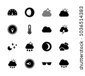 icons weather with thermometer  ... | Shutterstock .eps vector #1036514383