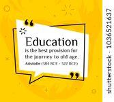 vector quotation. education is...   Shutterstock .eps vector #1036521637