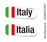made in italia label with... | Shutterstock .eps vector #1036522567