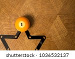 number one billiard ball on a... | Shutterstock . vector #1036532137