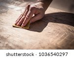 gritty weathered man's hand and ... | Shutterstock . vector #1036540297