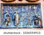 giiordano bruno statue campo de'... | Shutterstock . vector #1036554913