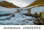 Snow melt flows from the mountains of Norway.