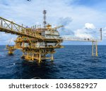 offshore oil and gas central... | Shutterstock . vector #1036582927