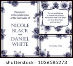 invitation with floral... | Shutterstock . vector #1036585273