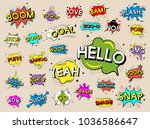 illustration of words with... | Shutterstock . vector #1036586647
