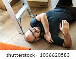 a person getting injured | Shutterstock . vector #1036620583