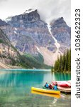 lake louise  canada   aug 22 ... | Shutterstock . vector #1036622323