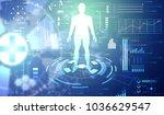 abstract technology ui... | Shutterstock . vector #1036629547