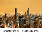 aerial view of downtown chicago ... | Shutterstock . vector #1036632193