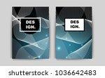 dark blue vector pattern for... | Shutterstock .eps vector #1036642483