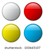 Vector blank badge template illustration - four colors | Shutterstock vector #103665107