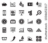 solid black vector icon set  ... | Shutterstock .eps vector #1036652317
