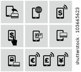mobile banking icons set. pay... | Shutterstock .eps vector #103665623