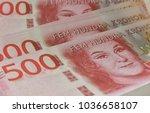 krona sweden banknotes... | Shutterstock . vector #1036658107