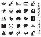 solid black vector icon set  ... | Shutterstock .eps vector #1036658377