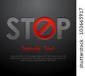 illustration of stop written... | Shutterstock .eps vector #103665917