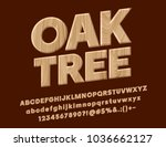 vector oak tree textured sign.... | Shutterstock .eps vector #1036662127