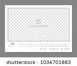 simple wall calendar july 2018... | Shutterstock .eps vector #1036701883