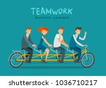 teamwork  business concept.... | Shutterstock .eps vector #1036710217
