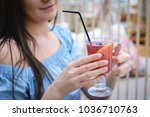 beautiful long haired girl in... | Shutterstock . vector #1036710763