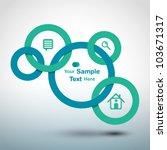 circles web design | Shutterstock .eps vector #103671317