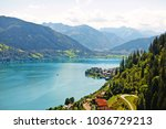 beautiful landscape with blue... | Shutterstock . vector #1036729213