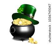st. patricks day symbols  ... | Shutterstock .eps vector #1036745047