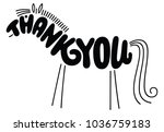 thank you hand drawn phrase in...   Shutterstock .eps vector #1036759183