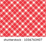 red gingham pattern. texture... | Shutterstock .eps vector #1036763407