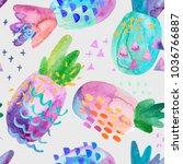 funny colorful decorative...   Shutterstock . vector #1036766887