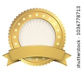 button template gold with... | Shutterstock .eps vector #1036778713