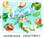 horizontal vector banner with a ... | Shutterstock .eps vector #1036778917