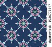 cross stich pattern in flat... | Shutterstock .eps vector #1036778947