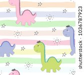 cute seamless pattern with...   Shutterstock .eps vector #1036787923