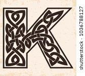letter of the english alphabet... | Shutterstock .eps vector #1036788127