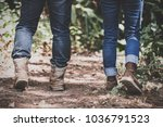 closeup image of two people... | Shutterstock . vector #1036791523