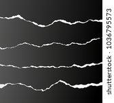 vector realistic black paper's... | Shutterstock .eps vector #1036795573