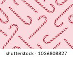 pattern of hard candy cane...   Shutterstock . vector #1036808827