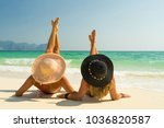 woman at the beach in koh poda... | Shutterstock . vector #1036820587