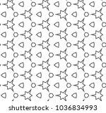 seamless geometric ornamental... | Shutterstock .eps vector #1036834993